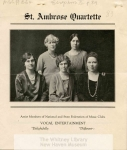 MSS B64: St. Ambrose Music Club Records, 1897-1992