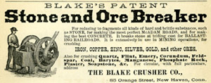 1877 City Directory, Blake's Stone Crusher