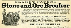 1877 City Directory, Blake's Stone Crusher