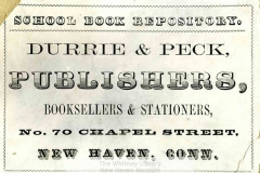 MSS 15: Durrie & Peck Records, 1820-1860