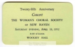 MSS 53: Woman's Choral Society of New Haven Records, 1927-59